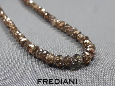 Collier en diamants bruns naturels